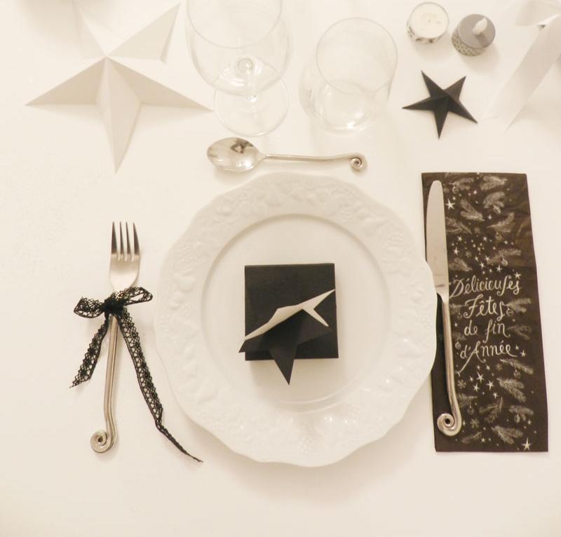 deco-de-table-en-noir-et-blanc