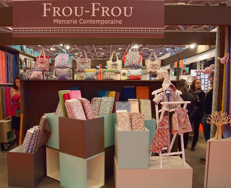 stand Frou-Frou presentation nouveaux tissus Frou-Frou