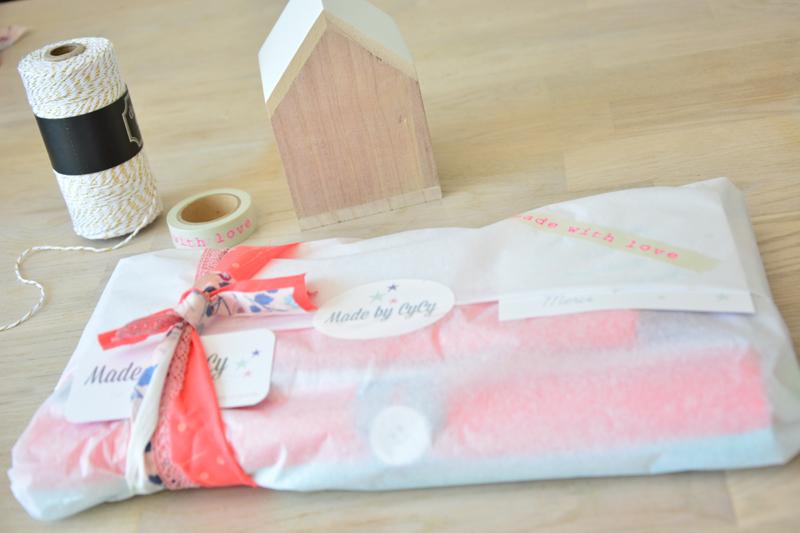 emballage créatif papier et tissu