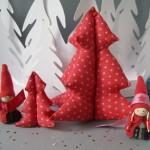 Idée créative : le sapin de Noël en tissu