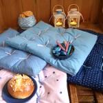 Idée créative : le coussin futon pour l'Hiver