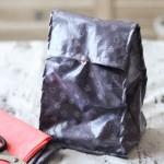 DIY lunch bag en tissu enduit