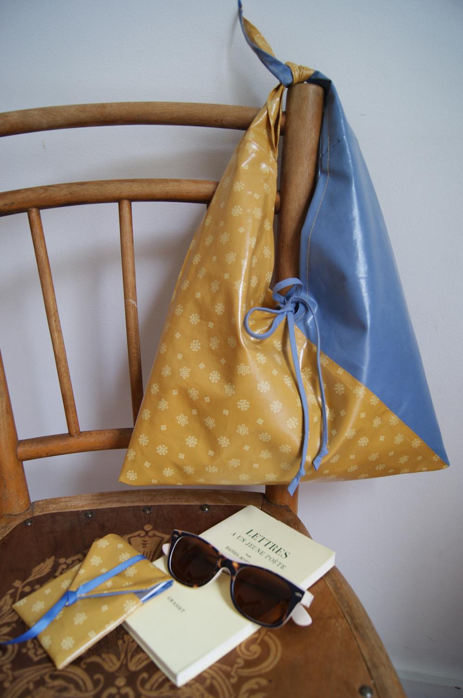 id e cr ative le sac en tissu enduit de l 39 t le blog couture frou frou mercerie. Black Bedroom Furniture Sets. Home Design Ideas