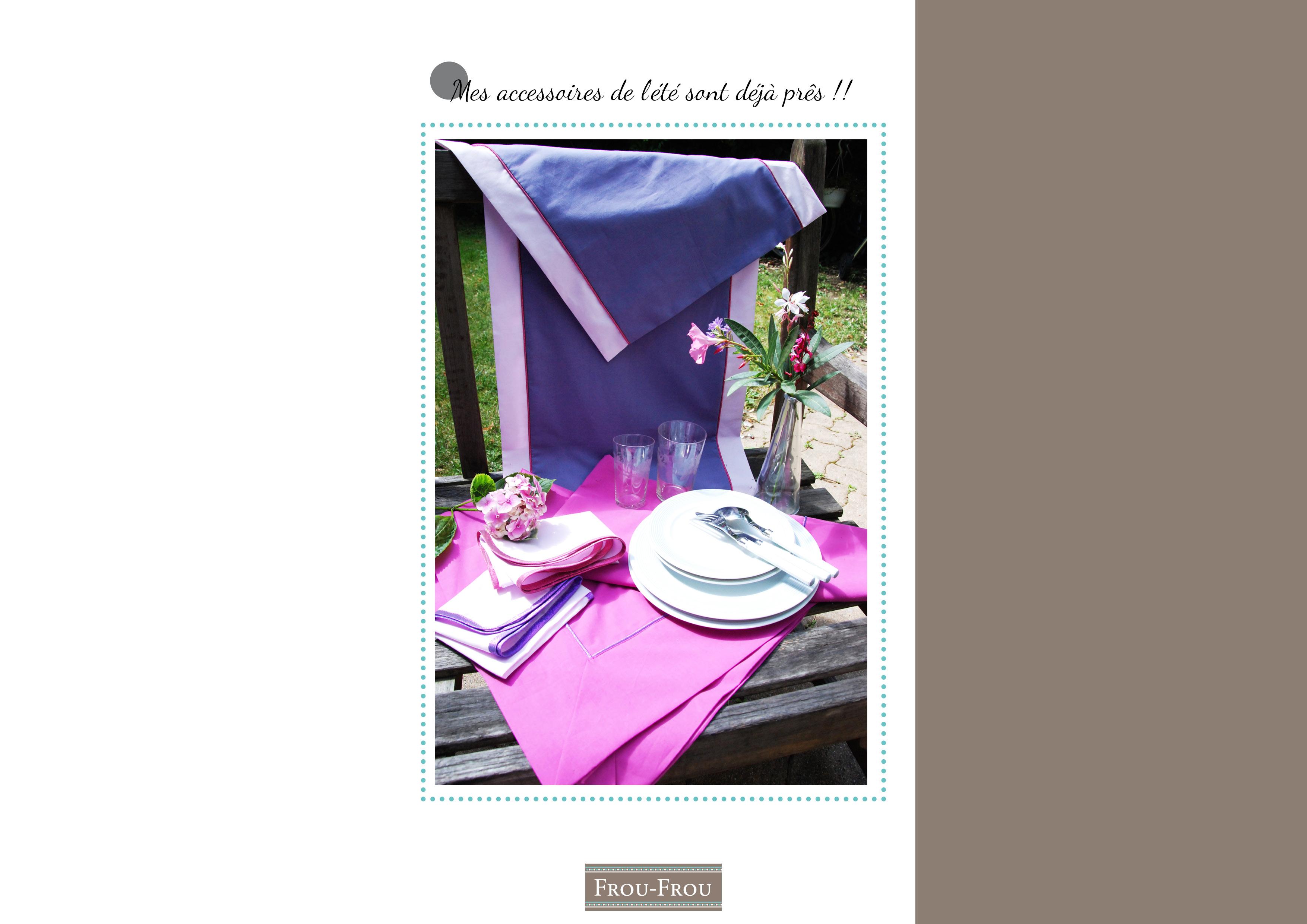 Idée créative : la nappe et ses accessoires couture pour l'été ...
