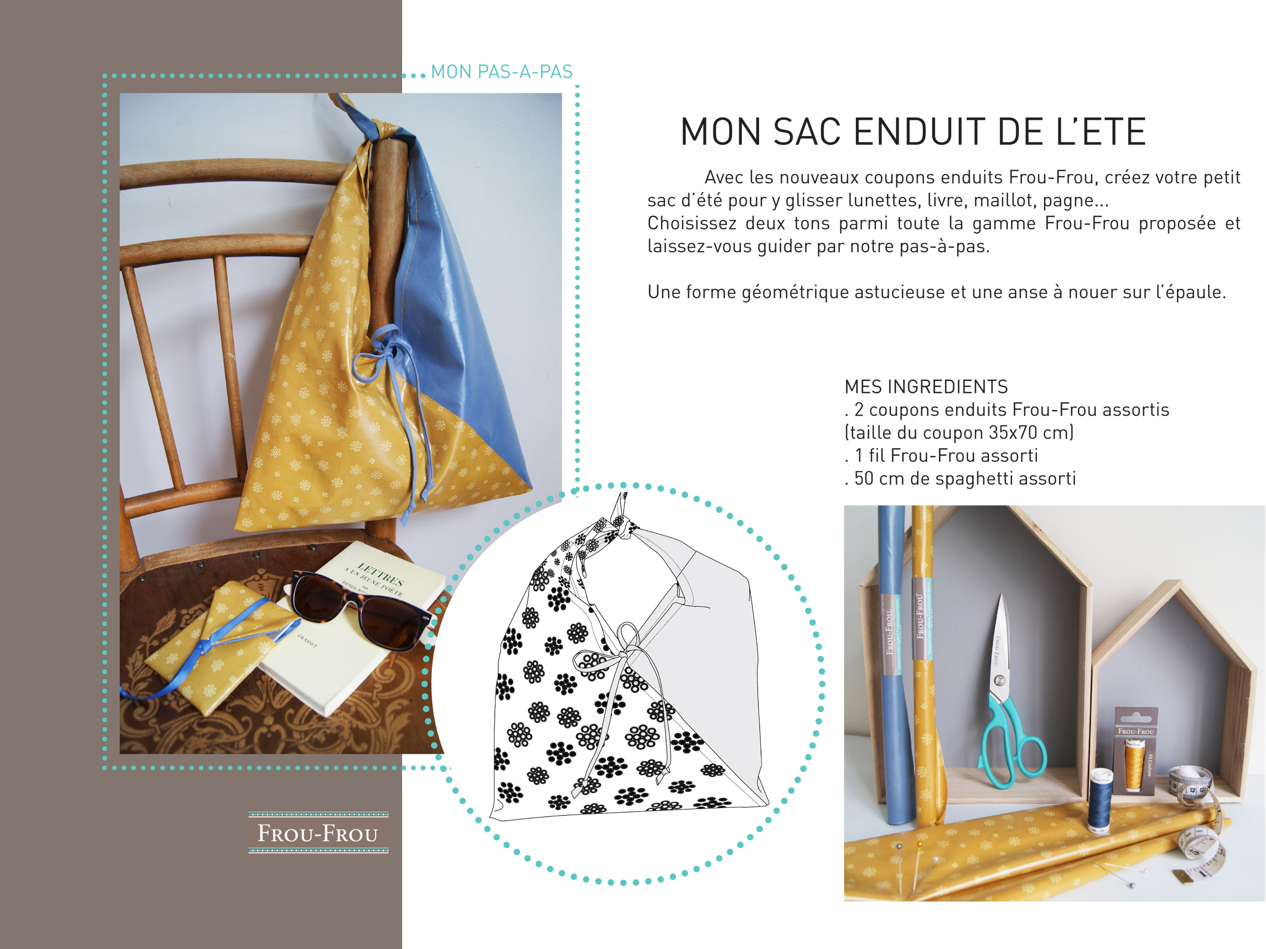 Idée créative : le sac en tissu enduit de l'été / le blog couture ...