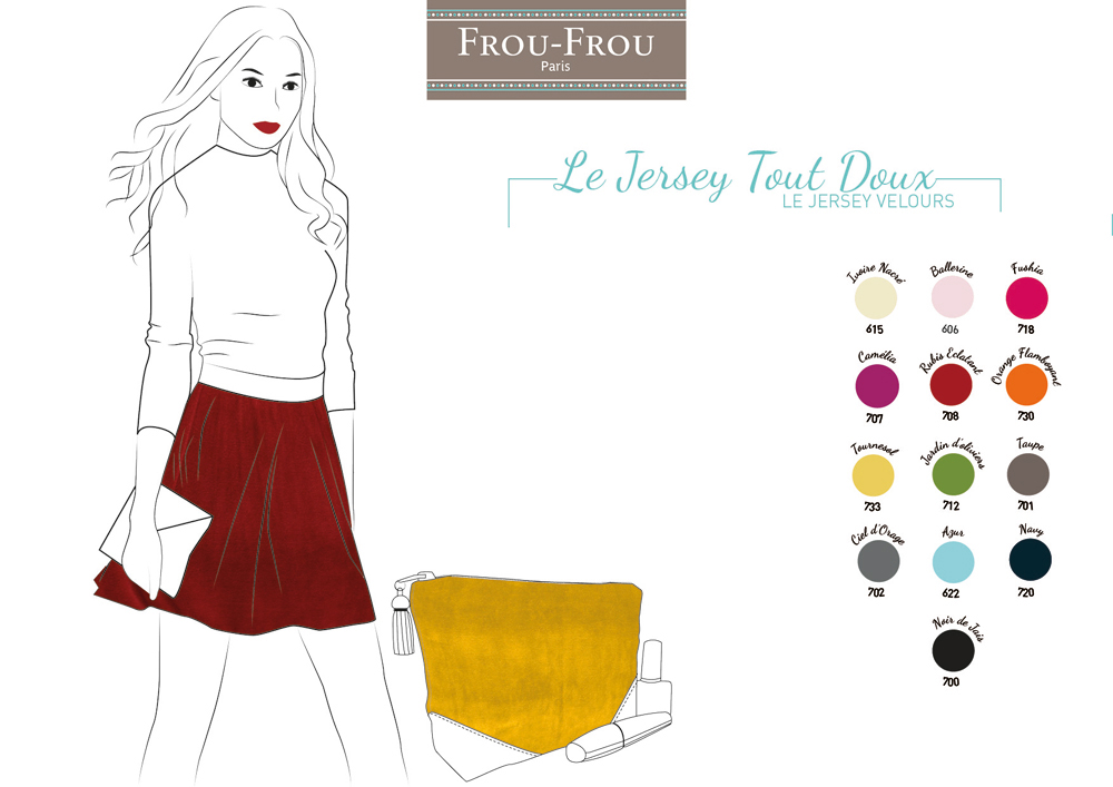 tissus jersey velours Frou-Frou