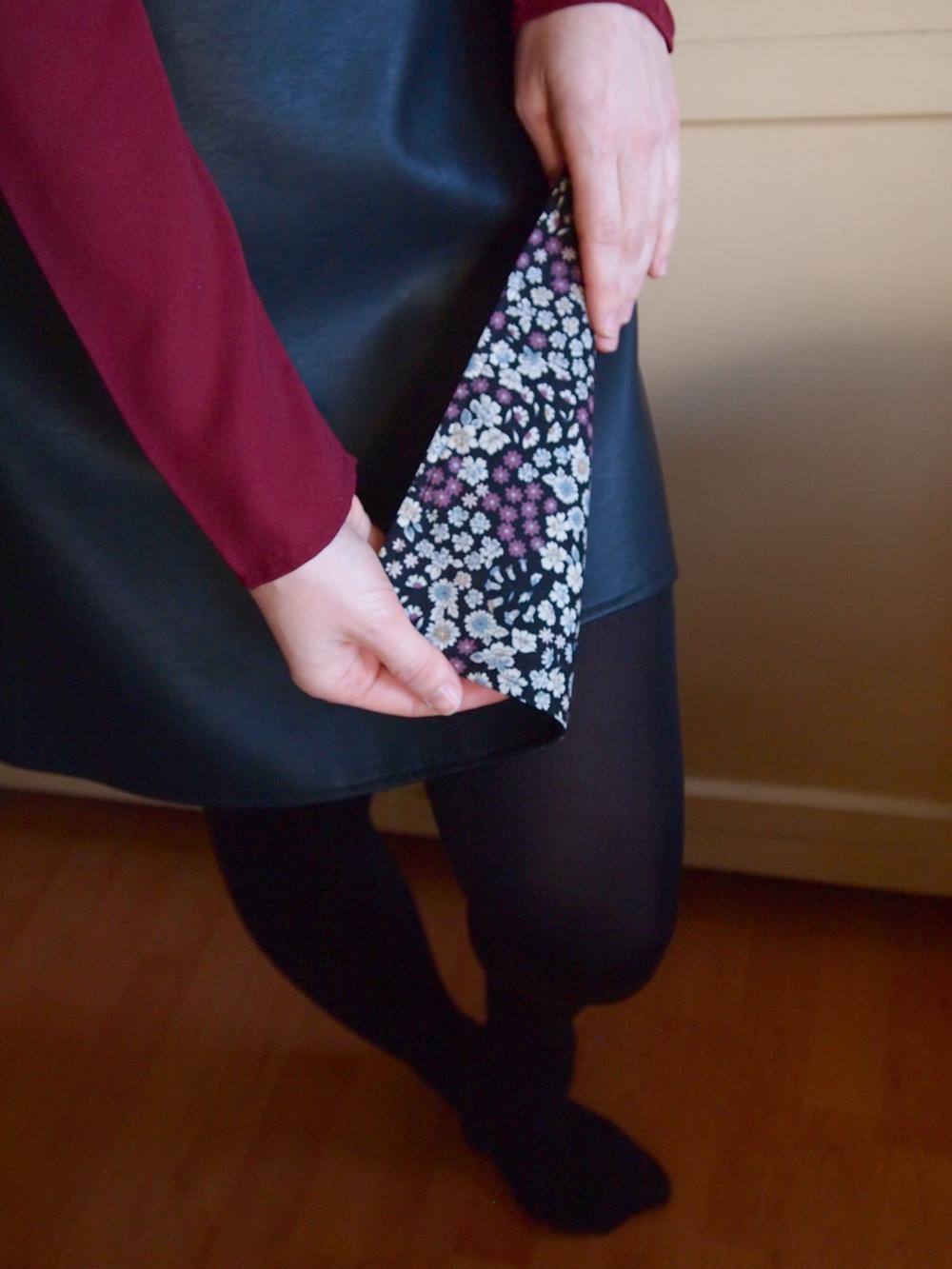 jupe couture en simili cuir