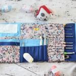 DIY pochette pour crochet et tricot