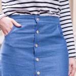 DIY la jupe en jean