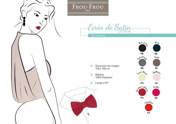 tissu satin Frou-Frou