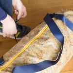 DIY le sac polochon en tissu enduit
