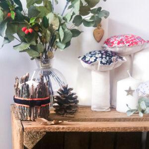 Idée créative : déco de Noël (champignons et porte-bougies)